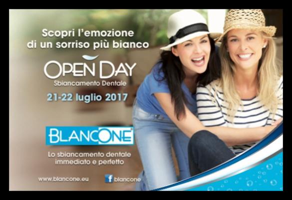 In occasione dell'Open Day BlancOne, presso IL PUNTO, avrai la possibilità di effettuare un trattamento sbiancante con una promozione incredibile!